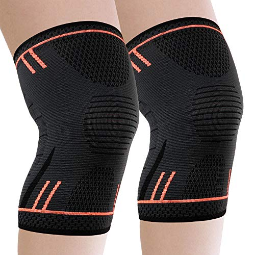 Molsdon Knee Support Brace 2 Pack, Compression Knee Sleeves for Arthritis...