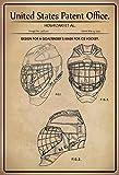 Schatzmix United States Patent Office – Design for a Goaltenders Mask Ice Hockey – Design per Una Maschera da Portiere per Hockey su Ghiaccio – Hoshizaki – Design No 358232-1995 – Targa in Metallo