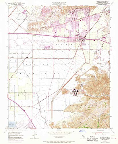 YellowMaps Camarillo CA topo map, 1:24000 Scale, 7.5 X 7.5 Minute, Historical, 1950, Updated 1968, 26.8 x 22 in - Paper