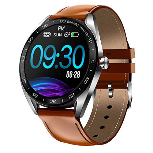 OPTA SB-131 Leather Tolkien Bluetooth Fitness Smart Watch with IP68 Grade | All Day Heart Rate and...