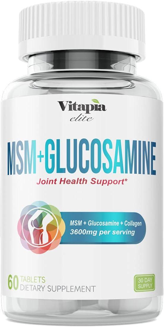 Max 90% OFF Vitapia MSM Glucosamine - 3600mg Serving per Los Angeles Mall