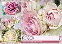 Rosen. Charmante und edle Koeniginnen (Wandkalender 2022 DIN A3 quer): Elegante und zauberhafte Rosen fuer Romantiker (Monatskalender, 14 Seiten )