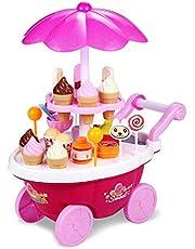 Bemixc おままごと セット 音と光の出る アイスクリーム 洋食屋 人気 女の子 おもちゃ お会計 お店屋さん 子供能力を育てる 知育玩具 お誕生日プレゼント