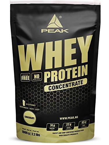Peak Performance Whey Protein Concentrate, 1000 g Beutel (Erdbeere)