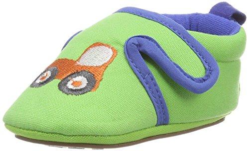 Sterntaler Baby-Schuh mit rutschfesten Sohlen für Jungen, Alter: 6-9 Monate, Größe: 18, Farbe: Grün (Sommergrün), Art.-Nr.: 2301863