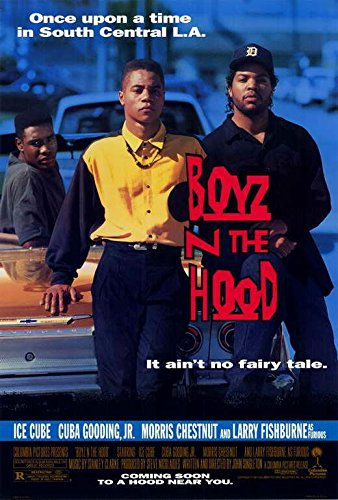 Boyz n the Hood Movie POSTER 27 x 40 Cuba Gooding Jr, Ice Cube, A, MADE IN THE U.S.A.