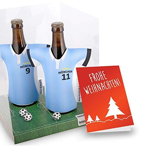 Weihnachts-Geschenk | Der Trikotkühler | Das Männergeschenk für 1860-Fans | Langlebige Geschenkidee Ehe-Mann Freund Vater Geburtstag | Bier-Flaschenkühler by Ligakakao