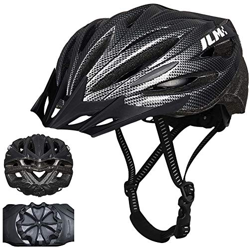 ILM Adult Bike Bicycle Helmet for Men Women Quick Release Strap Lightweight Casco Suits Biking Cycling MTB CPSC Certified (Carbon, XXL)