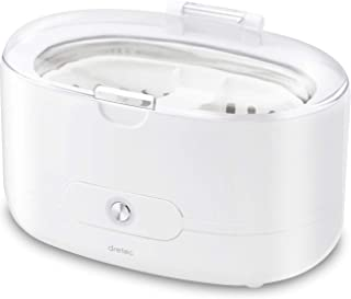 dretec(ドリテック) 超音波洗浄機 メガネ 時計 貴金属 入れ歯 シェーバー ソニクリア UC-500WT(ホワイト)