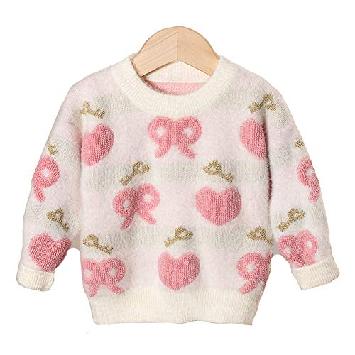 LOSORN ZPY Baby Girl Sweater Cotton Todder Knit Heart Long Sleeve Pullover Sweatshirt