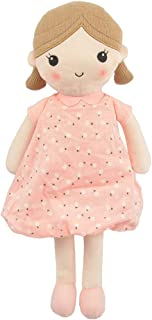 "Linzy Toys, Soft Plush Light Pink Blue Emily Rag Doll for Girl, 15"" My First Rag Doll, Muñecas de Trapo para Niña, , Embro..."
