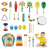 OBUBY Toddler Musical Instruments Sets Wooden Percussion Instruments Toy for...