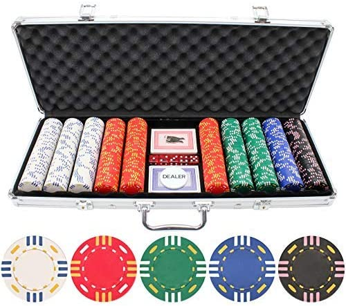 Versa Games Limited mart time sale 13.5g 500pc Triple Striped Chip Poker Set