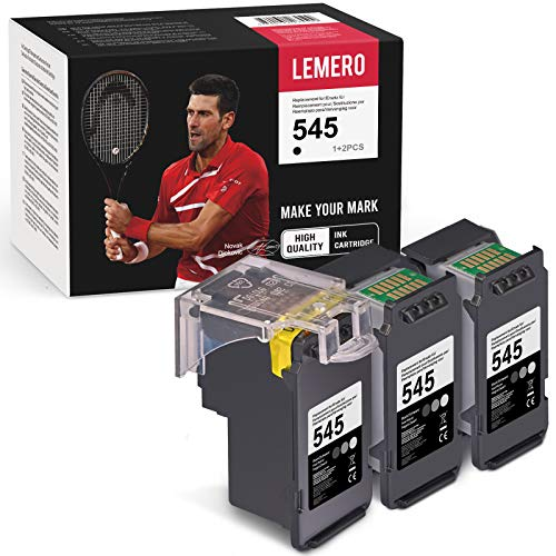 LEMERO 3 Rigenerata Nero Cartucce d'inchiostro per Canon PG-545 per Canon PIXMA MG2450 MG2550 MG2950 MGIP2850