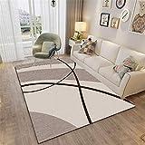 Kunsen alfombras de habitacion Juvenil la Alfombra Comedor Brown Alfombra Café Mesa de Café Colección Cómodas Cómodas Rectangular Camas Modernas 160X200CM 5ft 3' X6ft 6.7'