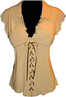 MK988 Women Sexy V-Neck Bandage Printed Sleeveless Tank Top Shirts
