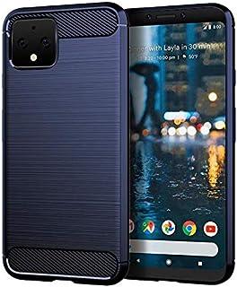 جراب لهاتف Google Pixel 4 XL Armor من ألياف الكربون الناعم بيكسل 4XL - أزرق
