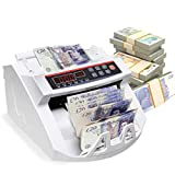 CASART Money Bill Note Electronic Counter with Automatic UV/MG Counterfeit Detection, Plus External Led Display, 1000 Notes/Min Multi-Currency Cash Banknote Counting Machine for Banks Shops Retails