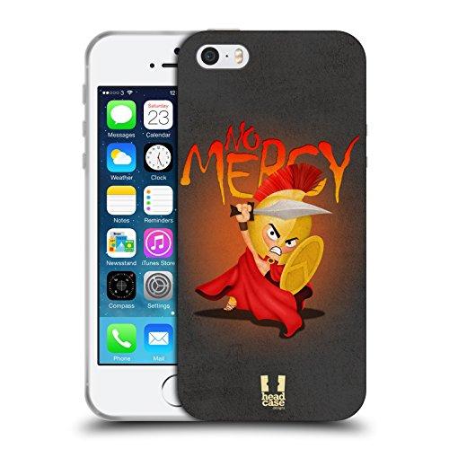 Head Case Designs No Mercy Piccoli Spartani Cover in Morbido Gel e Sfondo di Design Abbinato Compatibile con Apple iPhone 5 / iPhone 5s / iPhone SE 2016