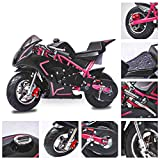 Fit Right 2020 Mini Gas Pocket Bike On 40cc 4 Stroke, Support Up to 165 lbs, EPA Approved, Perfect Mini Pocket Bike for Kids (Pink)