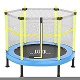 SPOLY Trampolin Sicherheitsnetz, Indoor Kinder Mini/klein Fitness Trampolin Workout Trampolin...