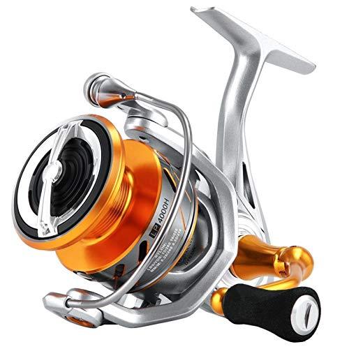 6.2: 1 4.7: 1 Carrete de Pesca Anticorrosión Luz y ampuerte Tech 22 Lbs MAX Power Salt Agua DE Agua Pesca de la Carpa (Spool Capacity : 3000 Series)