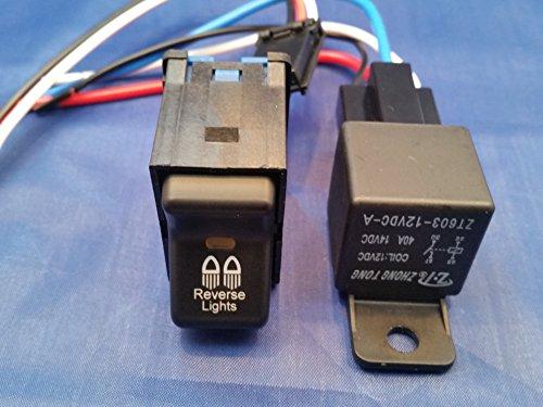 GCD Jeep TJ Rocker Switch- Reverse Lights Logo with 40 AMP Relay