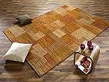 GANESHA TALI echter original handgeknüpfter Nepal-Teppich in orange, Größe: 200x250 cm - 3