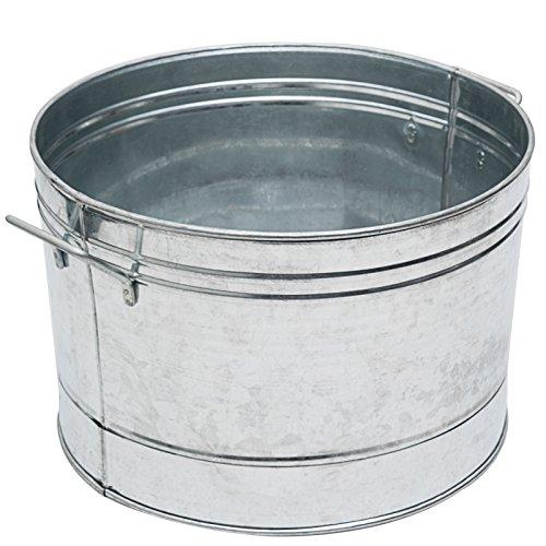 Achla Designs C-50 Galvanized Steel Round tub, Standard