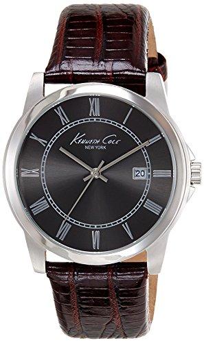 Kenneth Cole Reloj Analógico para Hombre de Cuarzo con Correa en Cuero 10008195
