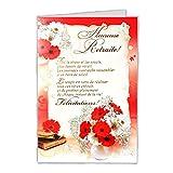 afie 35-763 Carte Départ Heureuse Retraite - Fleurs Floral Bouquet Bicolore