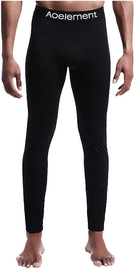 HebeTop Men's Thermal Underwear Pants Slim Sexy Legging Tights Underwear Pants Lightweight Thermal Bottoms Leggings