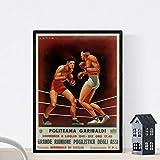Nacnic Poster Vintage. Cartel Boxeo Vintage Politeama Garibaldi. Tamaño A4
