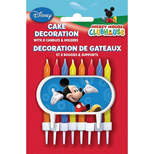Mickey Mouse Clubhouse Cake Topper & Birthday Candle Set