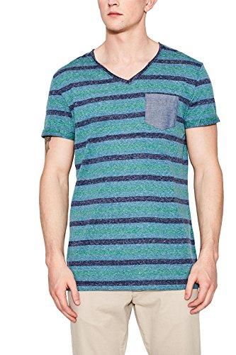 Edc by Esprit 047cc2k070 T-Shirt, Bleu (Turquoise 470), X-Large Homme