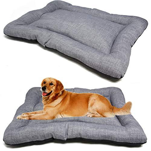 BPS - Coperta, materassino per cani e gatti, cuccia per animali domestici antiscivolo, misura S/M/L, portatile, materasso, divano con cuscino morbido (S: 60 x 45 cm, grigio) BPS-14094GR
