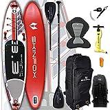 SKINFOX Seahorse Carbon-Set (335x78x15) 4-TECH L-CORE SUP Paddelboard rot - Farbe: rot - Groesse: Board,Bag,Pumpe,Carbon-Paddle,Leash,Kayak-Seat
