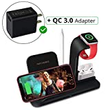 Advance Lifestyle [2020 Upgraded Model] Wireless Charging Dock, Stand, and Station 3-IN-1. Fast Charger. Best for Airpods Pro, Apple Watch, iPhone 11 Pro Max/11 Pro, Samsung Galaxy Note 10 Plus/10.