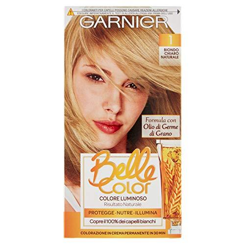 Garnier Tinta Capelli Belle Color, Colore Luminoso e Riflessi Naturali, Biondo Chiaro Naturale