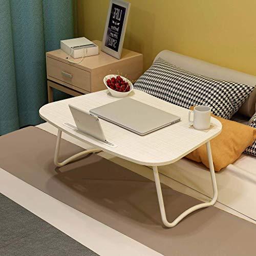 Draagbare klaptafel, draagbaar, voor notebook, zijtafel, bureauhouder, laptophouder voor laptop, tafel, salontafel, met slaapkamer-lees-O-70 x 50 x 30 cm