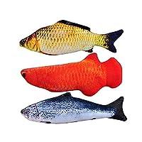 Echana 魚のぬいぐるみ ペットおもちゃ 噛むおもちゃ 魚のおも抱き枕 遊び 運動不足解消 肥満解消 誕生日プレゼント 3セット