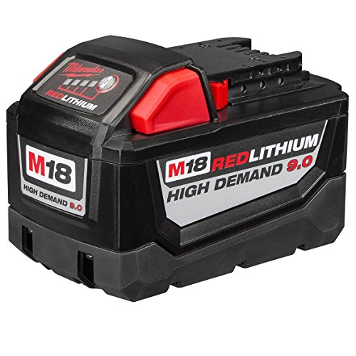 MILWAUKEE'S Electric 48-11-1890 M18 18VDC Red Lithium-Ion High Demand 9.0 Ah Battery Pack