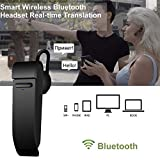 JINLO Bluetooth Traducción Voz En Tiempo Real Headset Auriculares Traductores Wireless Alta Fidelida...