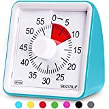 Secura 60-Minute Visual Timer, Classroom Countdown Clock, Silent Timer for Kids and Adults, Time Management Tool for Teaching (Blue)