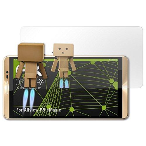 atFolix Bildschirmfolie kompatibel mit Allview P8 eMagic Spiegelfolie, Spiegeleffekt FX Schutzfolie