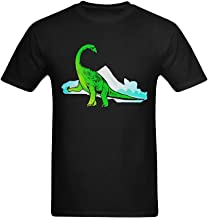 Fashion-In Men's Dinosaurs Background Green Art Design T-Shirt