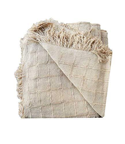 PURALGO. Multiusos, (Colcha, Cubre sofá, etc) Hecho en España. (Camel, 180X260cm)