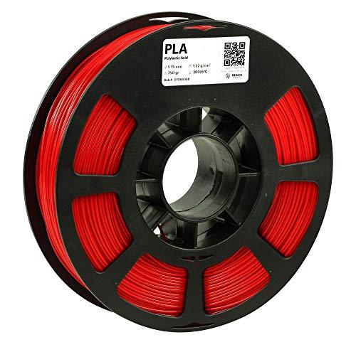 KODAK PLA Filament 1.75mm for 3D Printer, Red PLA, Dimensional Accuracy +/- 0.03mm, 750g Spool (1.7lbs), 1.75 PLA Filament Used as 3D Filament Consumables to Refill Most FDM Printers
