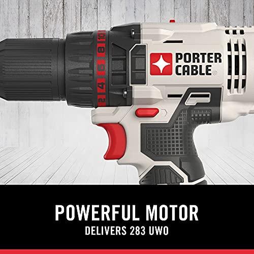 PORTER-CABLE 20V MAX Cordless Drill Combo Kit and Impact Driver, 2-Tool (PCCK604L2)