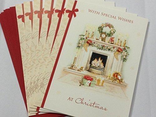 Paquete 24 tarjetas felicitación navideña diseño